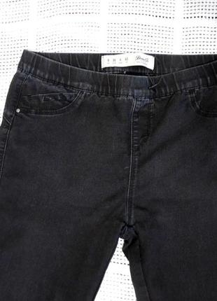 Джинсы джинси брюки черные зауженые с высокой посадкой denim co
