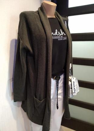 Теплый стильный кардиган кофта накидка анорак
