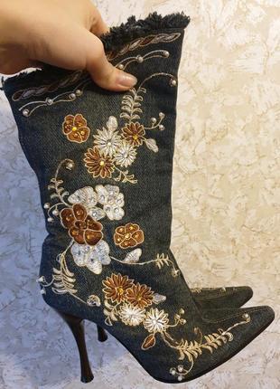 Оригинальные стильные сапоги ботинки боты ботильоны