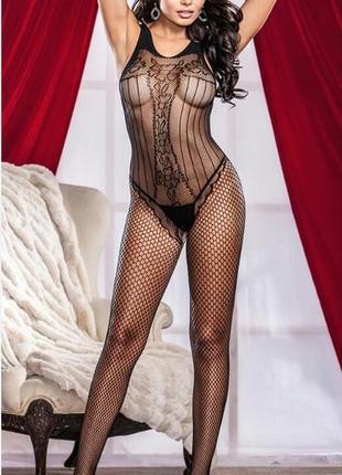 Эротический сексуальный комбинезон боди сетка бодистокинг арт. 599