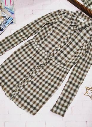 Стильная рубашка блузка в клетку