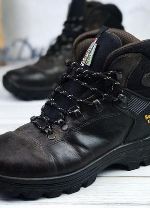Мужские зимние ботинки кожаные support system