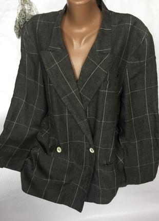 Крутой стильный пиджак лен 100% на подкладке