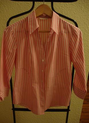 Блуза в полоску marks & spencer, рубашка