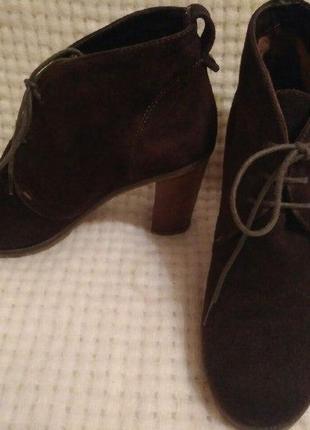 Ботинки замшевые gant р.39