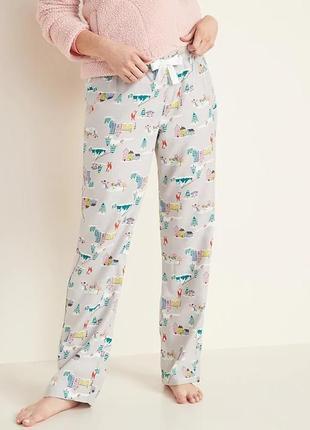 Женские фланелевые штаны пижама домашние old navy сша