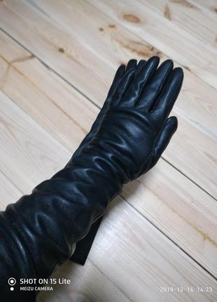 Длинные кожаные перчатки