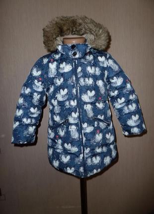 Next куртка, пальто некст на 3-4 года рост 98-104 см с котиками