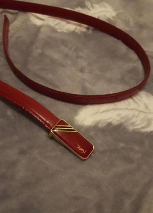 Пояс красный ремень поясок ysl yves saint laurent женский оригинал кожаный кожа винтаж 70е
