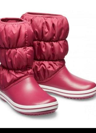 Оригинал, зимние сапоги, дутики, crocs   women's winter puff boot, крокс, кроксы