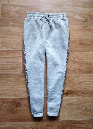 Красивые спортивные брюки с паетками от next