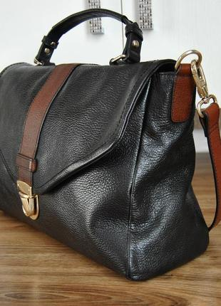 Кожаная сумка кожаный портфель marks & spencer / шкіряна сумка