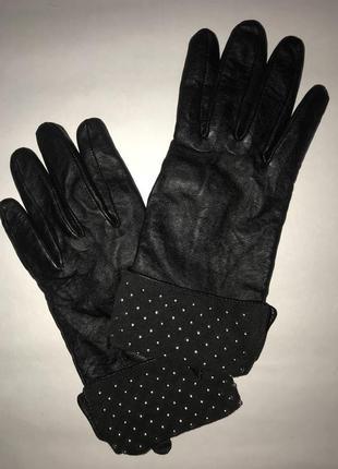 Женские кожаные перчатки на подкладке tu