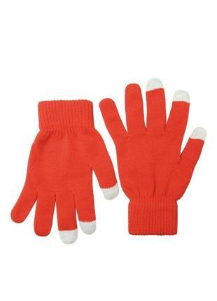 Перчатки сенсорные gio (red) для женщин
