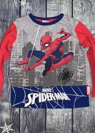 Реглан кофта футболка человек-паук spider-man 3-4 года