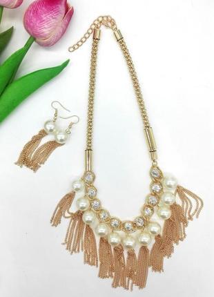 Набор. ожерелье и сережки. роспродажа