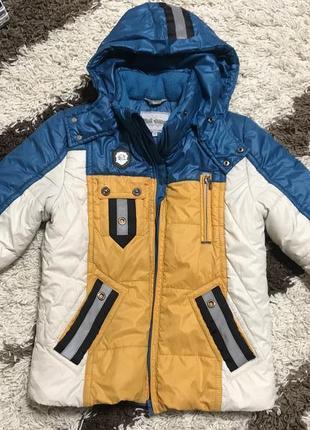 Зимняя куртка на мальчика 134-140