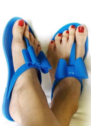 Вьетнамки голубые шлепанцы сланцы резиновые силиконовые