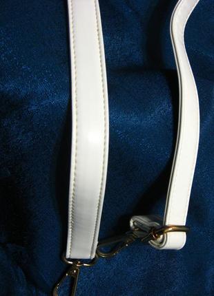 Белый лаковый ремень для сумки на плечо, съемный, 1 метр длиной