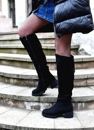 Ботфорты сапоги обувь на зиму зимние сапоги зимняя обувь