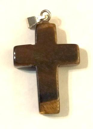 Крест из натурального полудрагоценного минерала