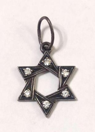 Кулон звезда давида серебро