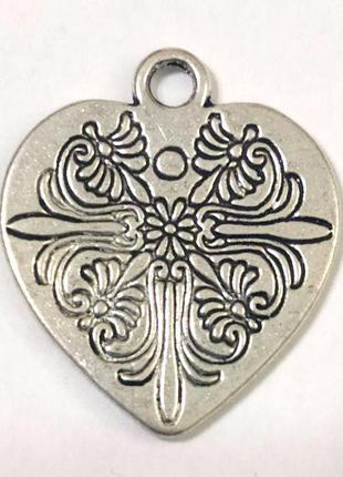 Кулон сердце с орнаментом