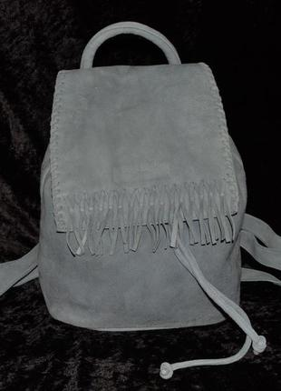 Серо-голубой замшевый рюкзак liebeskind berlin, оригинал