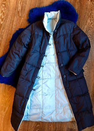 Шикарное двухстороннее «дутое» пуховое пальто - пуховик. куртка. парка. пальтишко пуховое.