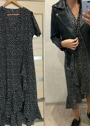 Платье асимметричное миди