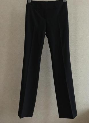 Черные шерстяные брюки boss hugo boss