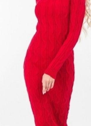 Тёплое вязаное платье аржен, 42-46