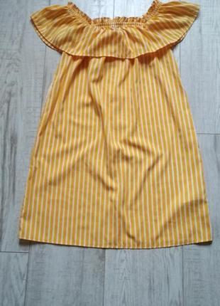 Платье со спущенными плечами primark 10-11 лет