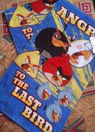 Яркое полотенце 35×65см дисней злые птицы
