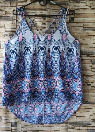 Яркий топ, кофточка, блузочка 16 размер одежда для пышненьких!!!