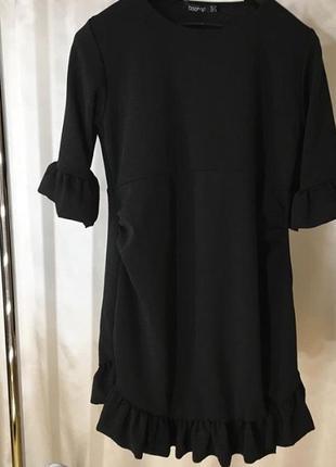 Платье миди с воланами boohoo