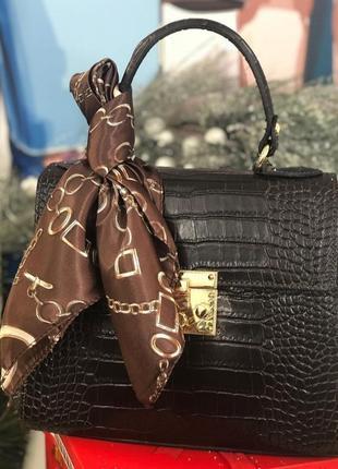 Женская кожаная сумка шоколадного цвета италия