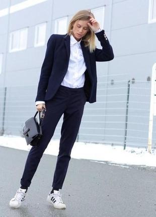 Якісні темно-сині класичні брюки lola