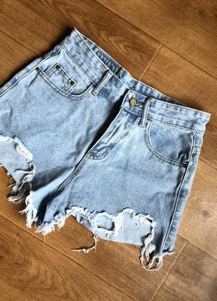 Джинсовые шорты корейского бренда style nanda