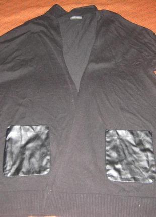 Черный кардиган gerry weber с кожаными карманами
