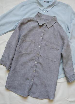 Льняная рубашка оверсайз clarina