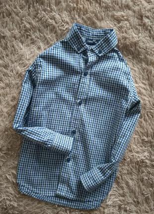 Натуральная, качественная рубашка в клеточку от next,на 4 года.