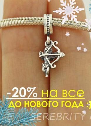 10% скидка подписчику шарм подвес для браслета пандора серебряный br 3100610 серебро 925