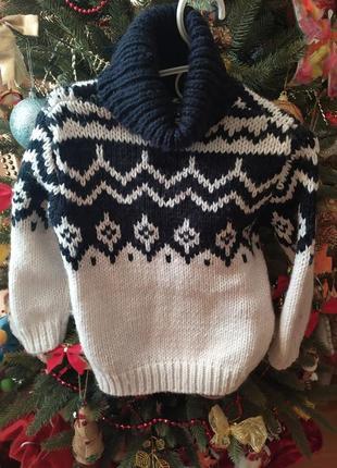 Теплюсенький свитер от zara на 4-5 лет