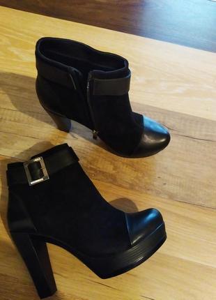 Ботинки кожа с замшем