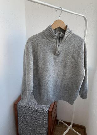 Джемпер свитер шерстяные серый гольф
