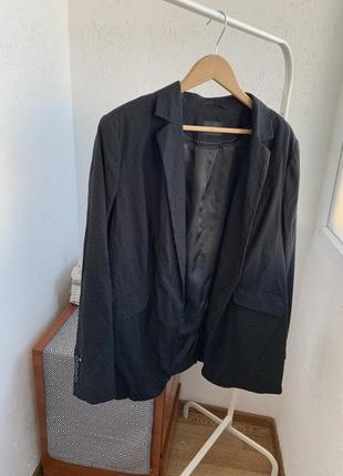 Блейзер пиджак чёрный прямой оверсайз
