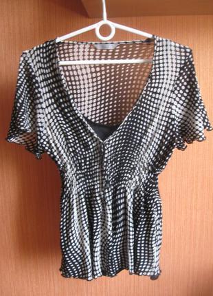 Блузка в горошек стильная