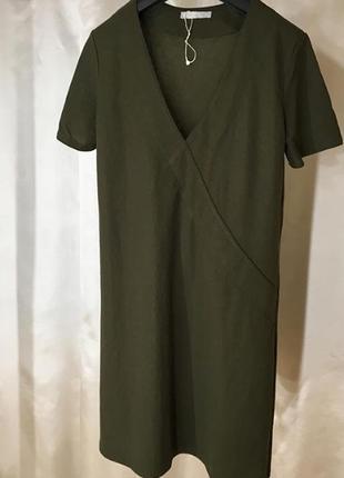 Платье хаки zara