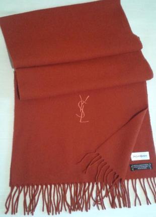 Оригинал шарфа yves saint laurent подписной логотип+300 шарфов платков на странице